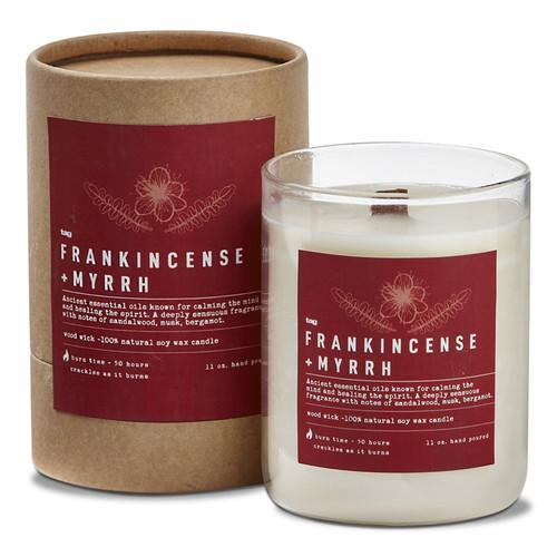 TAG Wood Wick Candle, Frankincense + Myrrh