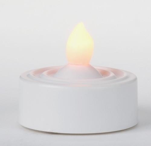 """Roman 1.25""""H White LED Tea Light"""
