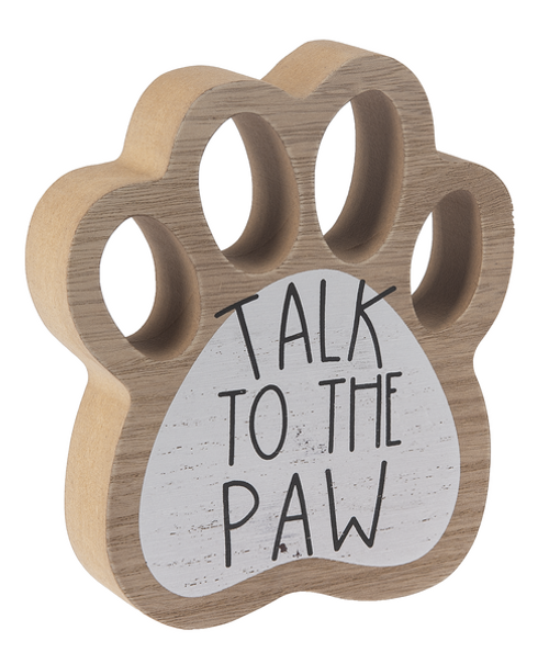 Ganz Paw Print Signs, Talk to the Paw
