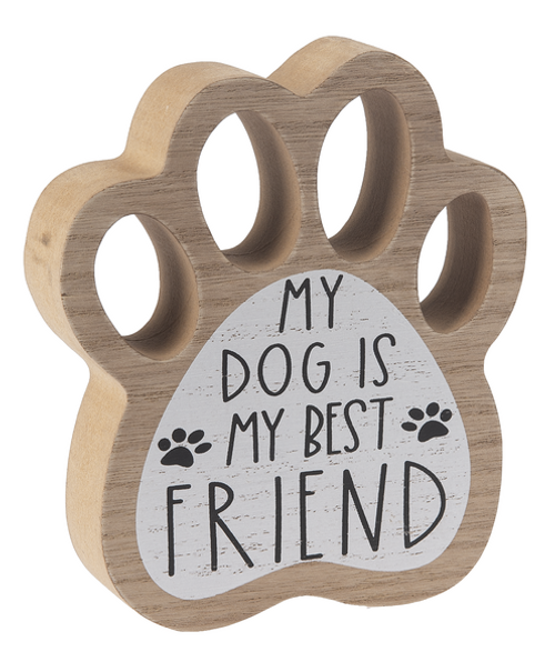 Ganz Paw Print Signs, Dog is My Best Friend