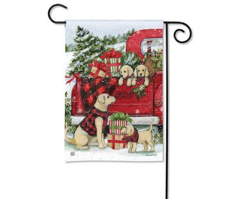 Studio M Christmas Puppies Garden Flag