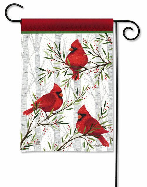 Studio M Cardinals in Birch Garden Flag