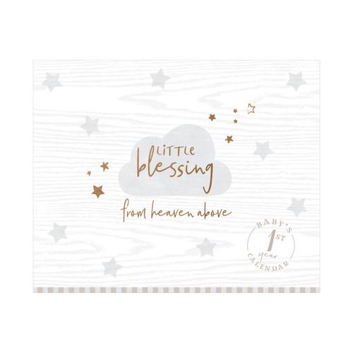 C.R. Gibson Baby First Year Calendar, Little Blessing