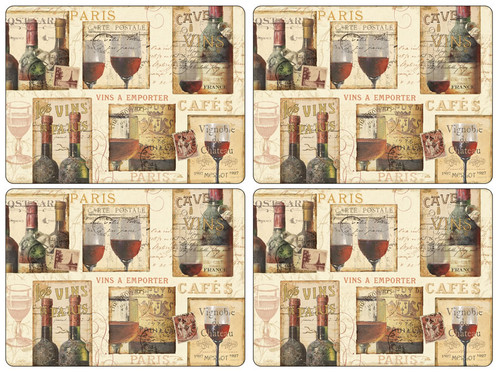 Pimpernel Placemats, The French Cellar, Set of 4