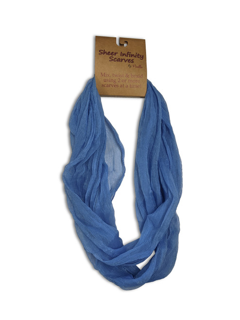 Ganz Sheer Infinity Scarf, Blue