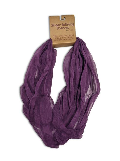 Ganz Sheer Infinity Scarf, Purple
