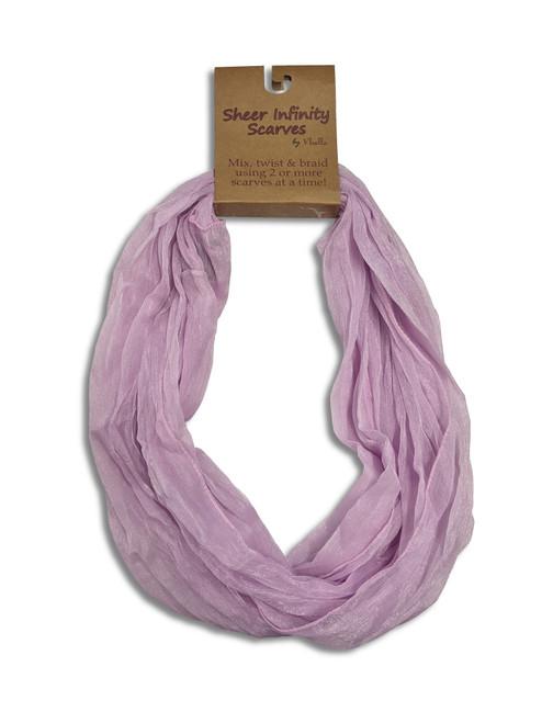 Ganz Sheer Infinity Scarf, Lavender