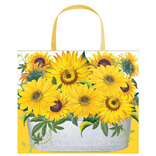 Caspari Large Gift Bag, Sunflowers (9799B3)