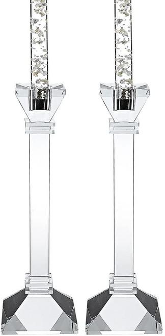 Badash Charleston Square Crystal Candle Holders, Set of 2