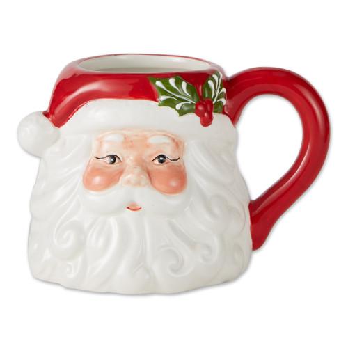 Design Imports India Ceramic Mug, Santa
