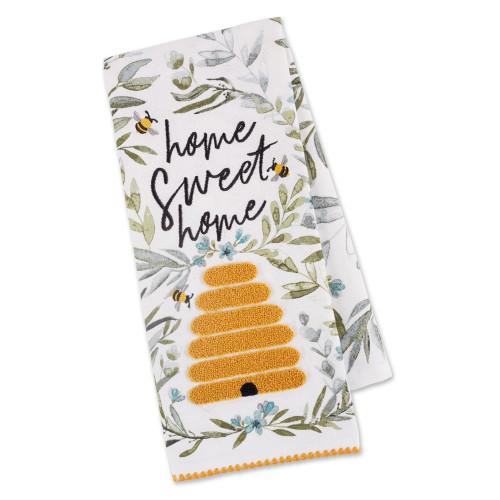 Design Imports India Embellished Sweet Bee Home Dishtowel