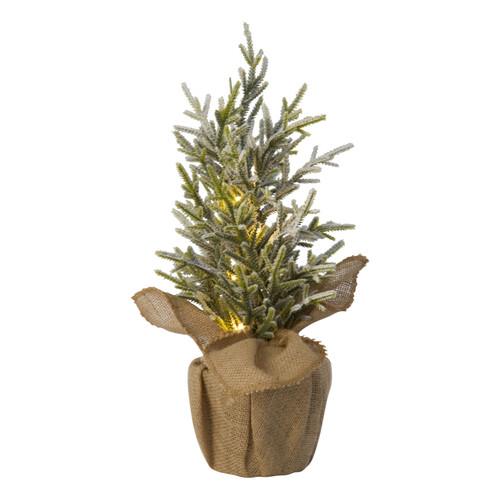 TAG LED Pine Tree w/ Burlap Pot