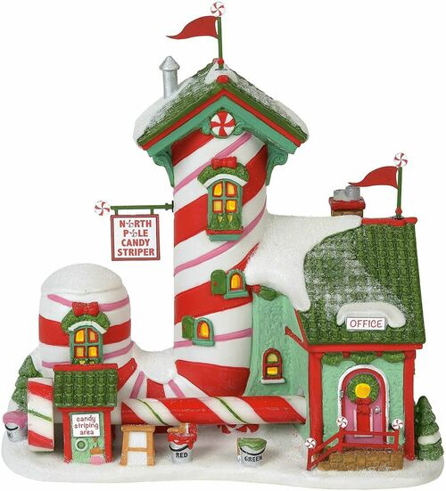 Department 56 North Pole Village - Candy Striper Lit Building