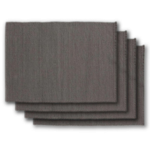 Design Imports India Slate Gray Placemat, Set of 4