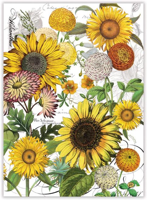 Michel Design Works Kitchen Towel, Sunflower (TOW350)
