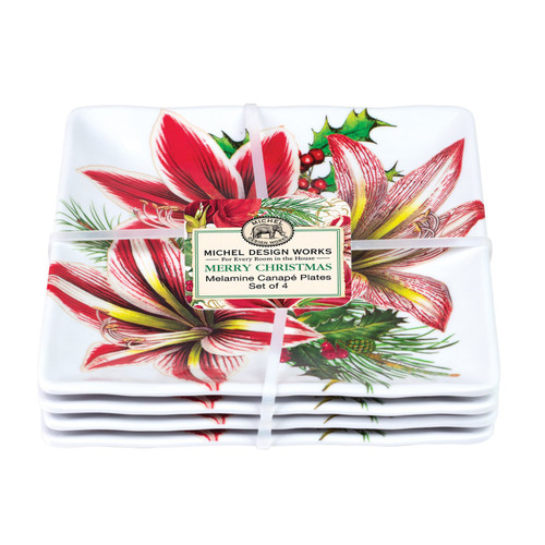Michel Design Works Merry Christmas Melamine Canape Plate Set (SWCPS346)