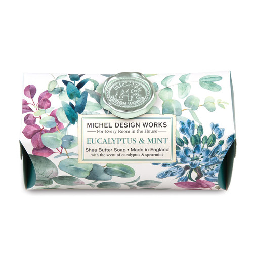 Michel Design Works Large Bath Soap Bar, Eucalyptus & Mint (SOAL365)