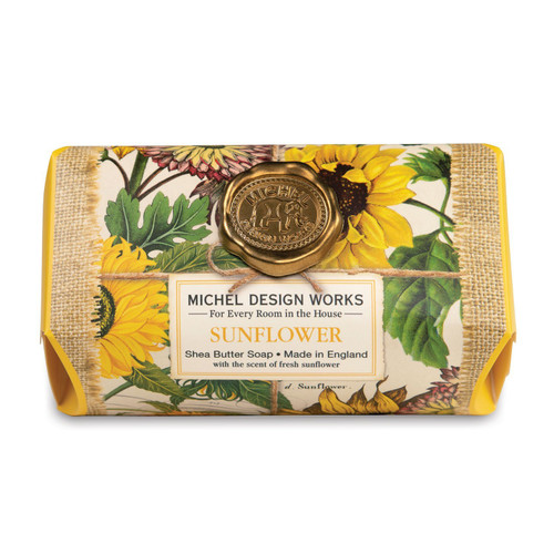 Michel Design Works Large Bath Soap Bar, Sunflower  (SOAL350)