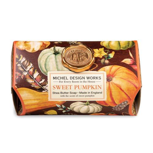 Michel Design Works Large Bath Soap Bar, Sweet Pumpkin (SOAL349)