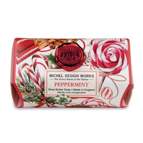 Michel Design Works Large Bath Soap Bar, Peppermint (SOAL347)