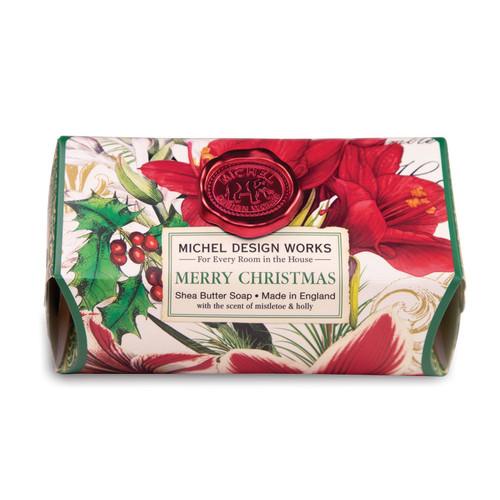 Michel Design Works Large Bath Soap Bar, Merry Christmas (SOAL346)