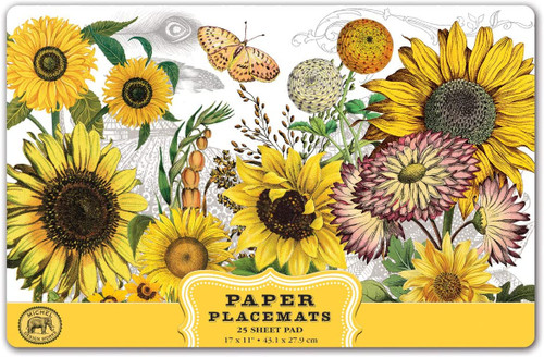 Michel Design Works Paper Placemats, Sunflower (PM350)