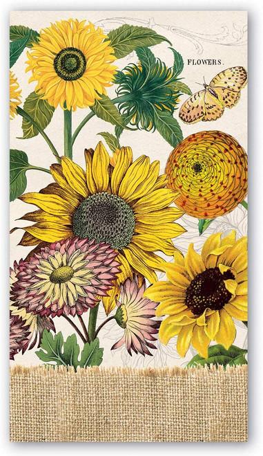Michel Design Works Paper Hostess Napkins, Sunflower (NAPH350)