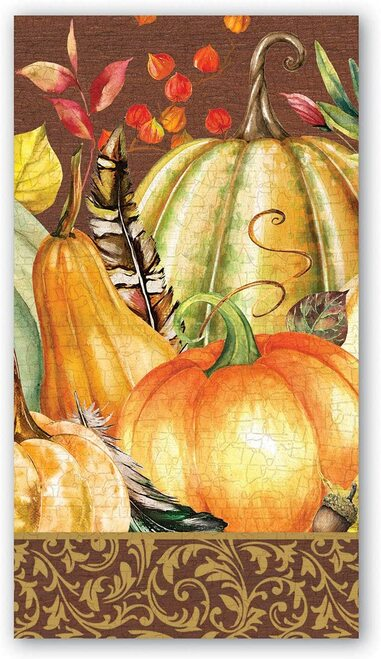 Michel Design Works Paper Hostess Napkins, Sweet Pumpkin (NAPH349)