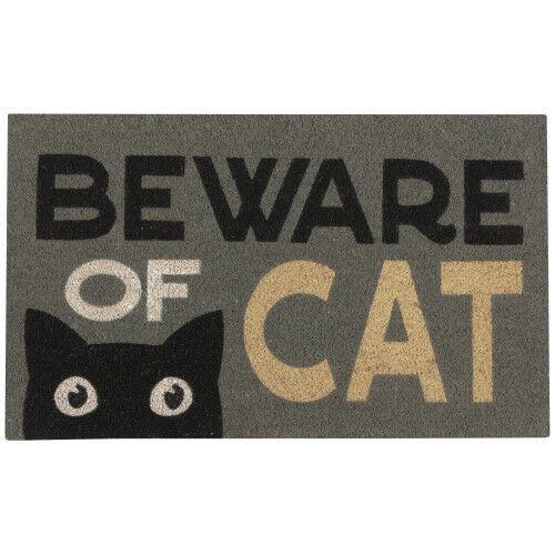 Now Designs Beware of Cat Doormat