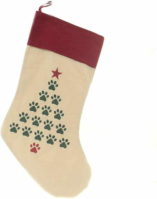 C&F Enterprises Paw Christmas Tree Stocking