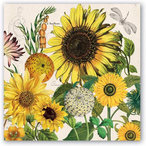 Michel Design Works Paper Beverage Napkins, Sunflower (NAP350)