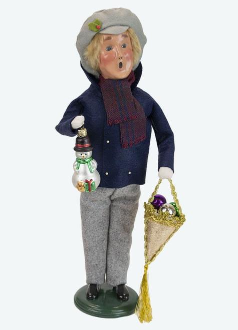 Byers' Choice Caroler, Glass Ornaments Man (4472F)