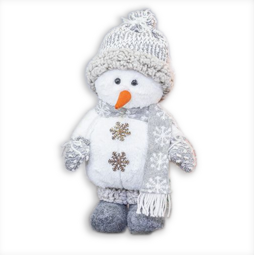 Hanna's Handiworks Snow Cloud Snowman Stander, Beanie Hat