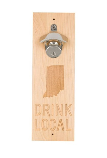 About Face Indiana State Bottle Opener