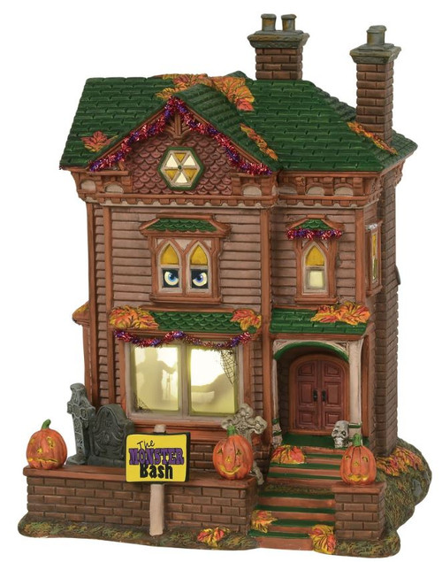 Department 56 Snow Village Halloween Monster Mash Party House