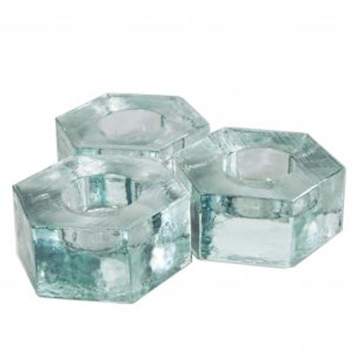 Blenko Hexangonial Votive Crystal (2917-HEX-1)