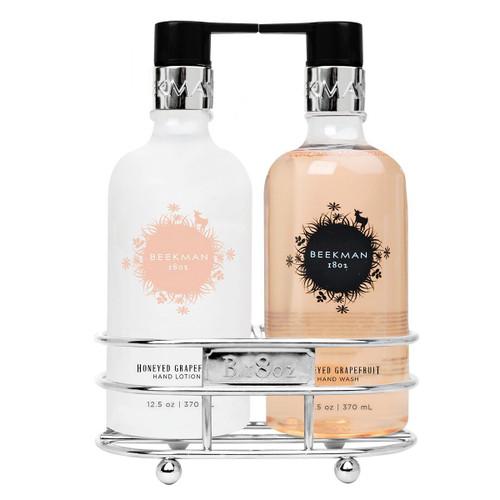 Beekman Honeyed Grapefruit Hand Care Duo Caddy Set