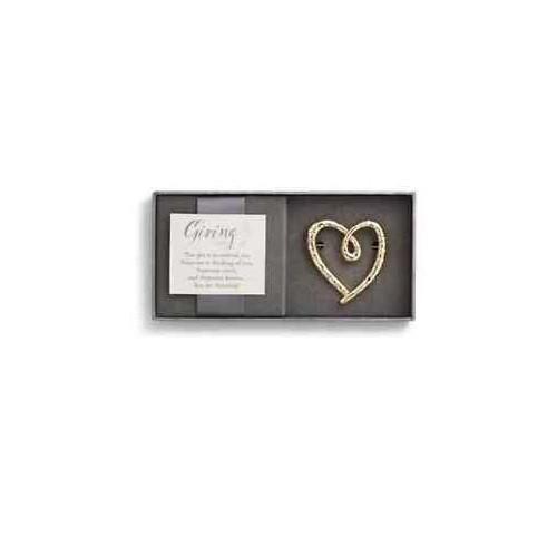 Demdaco Gold Heart Giving Pin