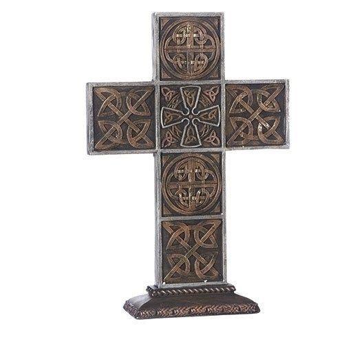 "Roman 13.5""H Thick Celtic Knot Cross"