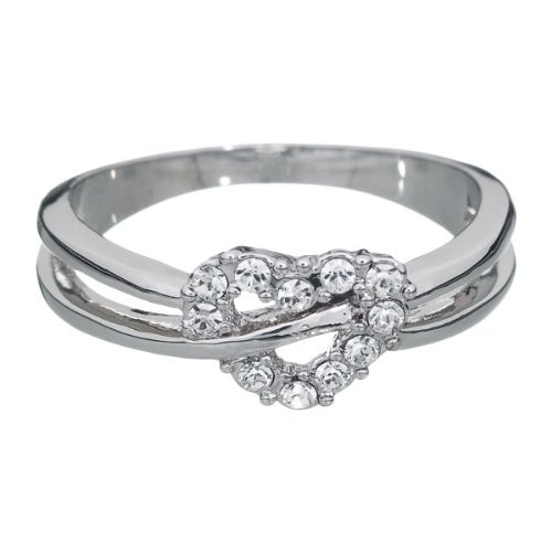 Annaleece Cross Your Heart Ring, Size 6