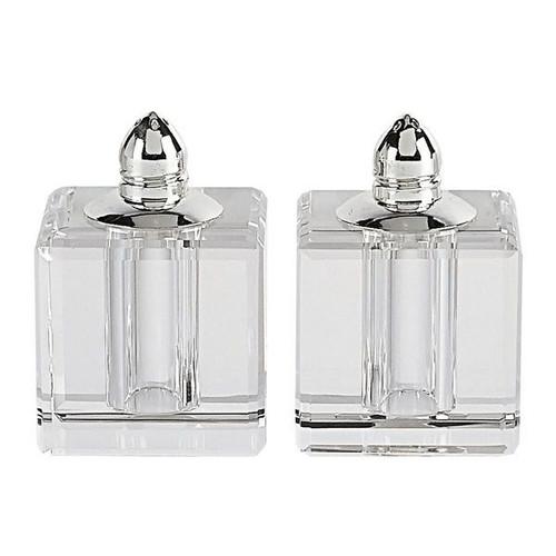 "Badash 2.5"" Silver Vitality Salt and Pepper Shakers (H144P)"