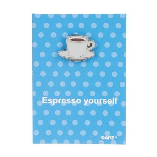 Ganz Enamel Pin - Espresso