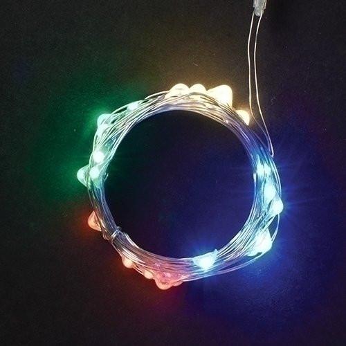 Roman Inc. USB 50L Multi-Color LED Silver String Lights