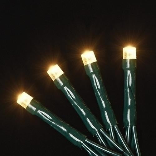 Roman Inc. USB 50L Warm White LED Green String Lights