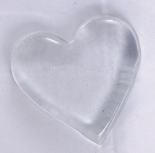 Blenko  Paperweight Heart Crystal, Clear