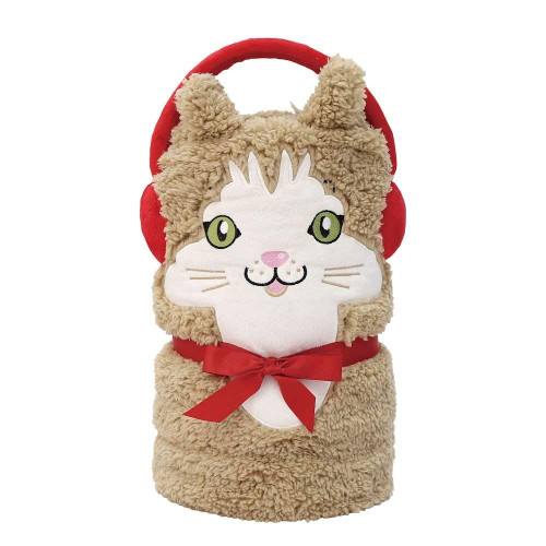 Enesco Snowpinions Cat Snowthrow Blanket