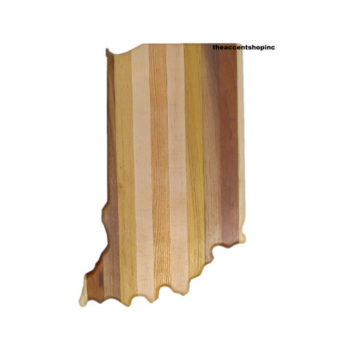 Wooden Indiana Shaped Cutting Board