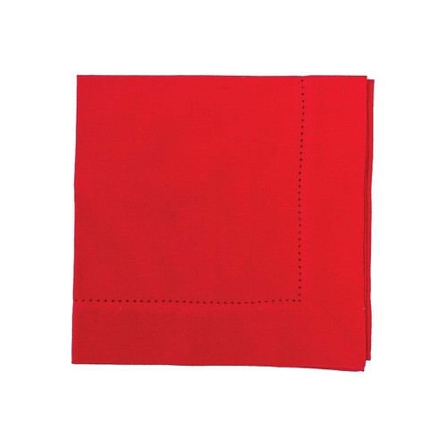 "C&F Enterprises 20"" x 20"" Reversible Napkins, Crimson - Set of 4"