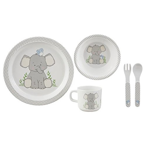 Ganz Childrens Elephant Plate Set (BG3786)