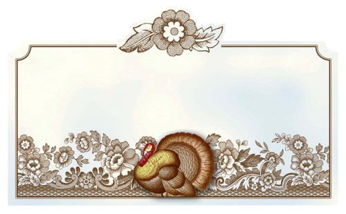 C.R. Gibson Deluxe Die-Cut Place Cards, Woodland, Box of 10